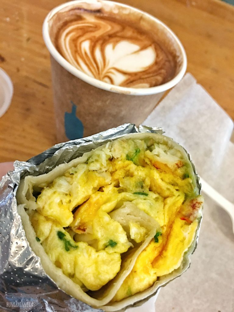 Breakfast burrito latte