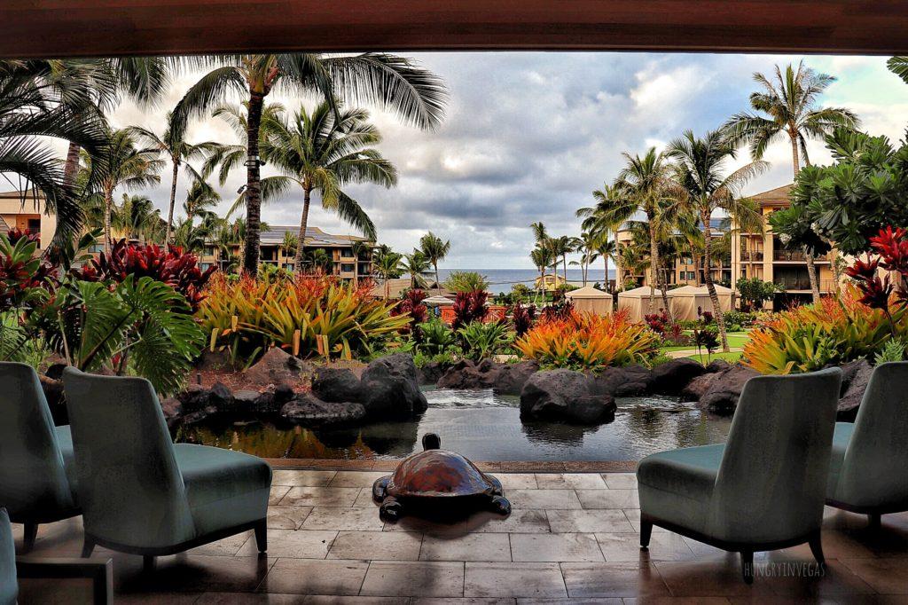 Beautiful views from the lobby at Koloa Landing Resort