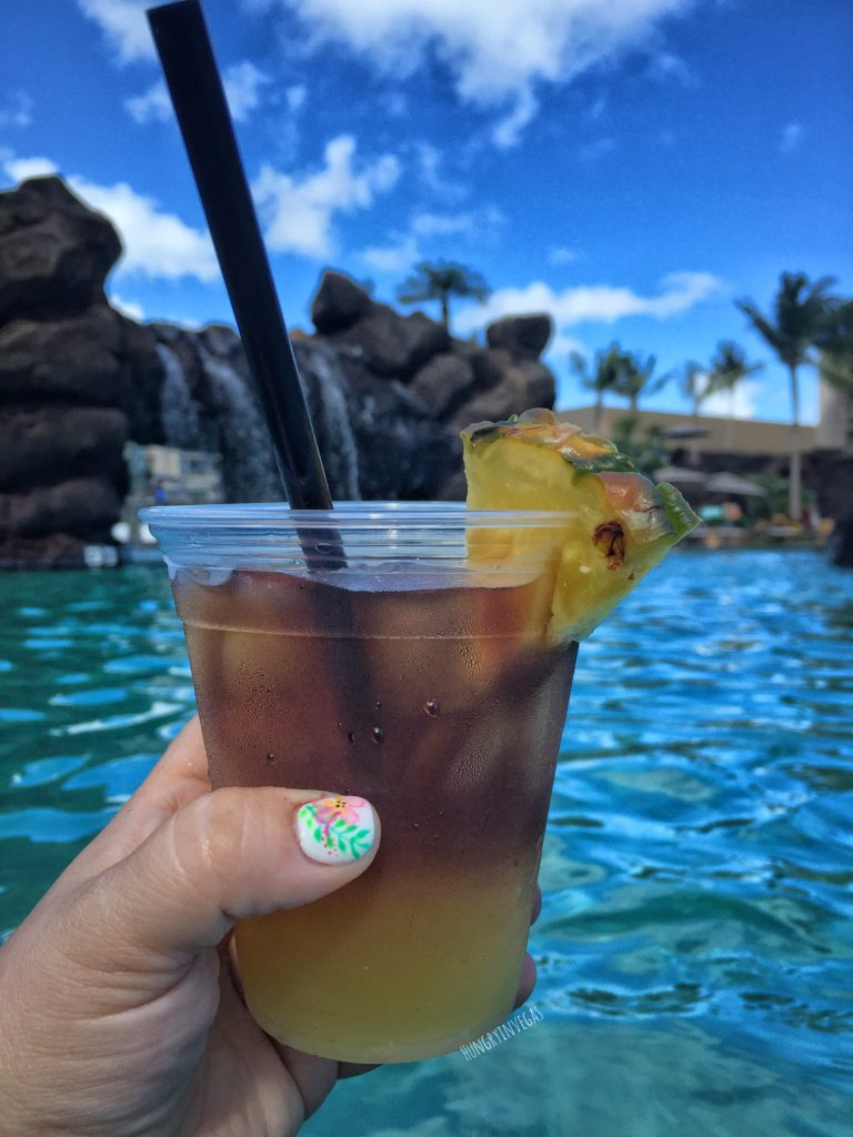 Poolside Mai Tai at Koloa Landing Resort, on Kauai